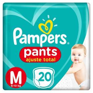 Fralda Pampers Pants Ajuste Total M - 20 Unidades R$14