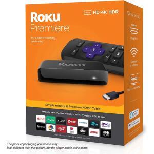 Roku Premiere reprodutor de mídia de streaming R$249