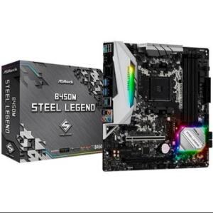 Placa-Mãe ASRock B450M Steel Legend, AMD AM4, mATX, DDR4 - 90-MXB9Y0-A0BAYZ R$730
