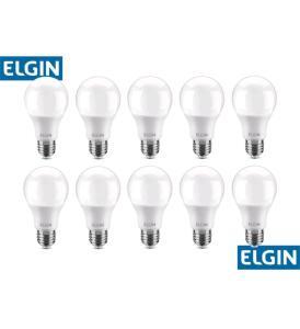 [MAGALUPAY] Kit com 10 lâmpadas 9W LED Elgin | R$43