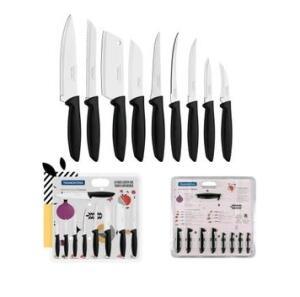 Jogo de facas faqueiro aço inox 9 pçs Tramontina | R$40