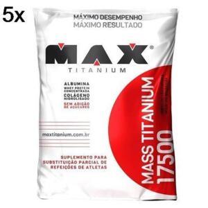 Kit 5X [7kg total] Mass Titanium 17500 1,4kg Refil Max Titanium | R$214