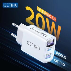 [NOVOS USÚARIOS] Carregador USB e Adaptador Getihu 20w R$0,06