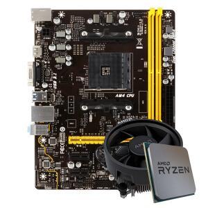 Kit Upgrade Placa Mãe Biostar A320MH DDR4 AMD AM4 + Processador AMD Ryzen 5 2400G 3.6GHz R$1329