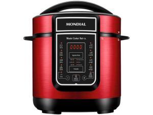 Panela Elétrica de Pressão Mondial Digital Master Cooker PE-41 3 Litros - Vermelha | R$298