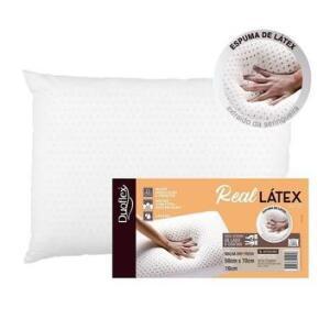 [Magalupay R$118] Travesseiro Real Látex 50x70x16cm - Duoflex | R$147