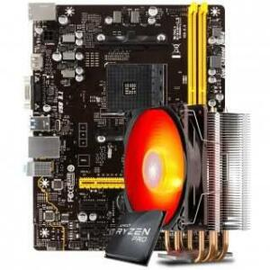 Kit Upgrade Placa Mãe Biostar A320MH + Processador AMD Ryzen 3 PRO + Cooler | R$ 1.149