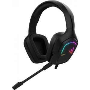 Headset Gamer Gamdias Hebe E2, Estéreo, RGB, Vibração, Black | R$169