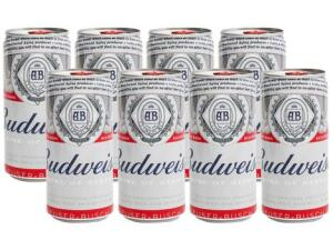 [C.Ouro + Magalupay] Cerveja Budweiser 269ml - 8 Unidades | R$15
