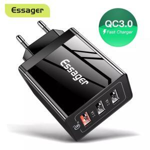 [Primeira compra] Carregador Essager 30w carga rápida 3.0 | R$0,60
