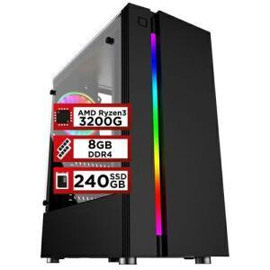 [App] PC Gamer PlayNow AMD Ryzen 3 3200G 8GB DDR4 2666MHZ (Placa de vídeo Radeon VEGA 8) SSD 240GB 500W Skill | R$2065