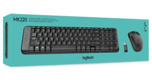 [PRIME] Combo Teclado e Mouse sem fio Logitech MK220 com Design Compacto | R$114