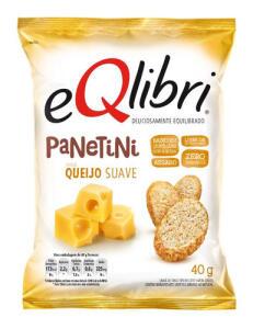 Snack Queijo Suave Eqlibri Panetini Pacote 40g   R$1