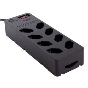 Filtro de linha +DPS 8 tomadas iClamper Energia - Proteção contra Surto Elétrico - 13000 Preto R$72