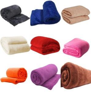 [R$67C/MagaluPay|R$13Cada] Kit 5 Cobertores Casal 200x180 Manta Liso Antialérgico | R$152