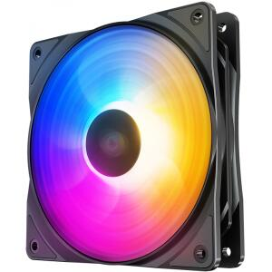 Cooler para Gabinete Deepcool RF120 FS LED Rainbow 120mm | R$35