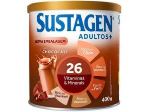 [C. Ouro+ magalupay R$68] [03 unid] Comp. Alimentar Sustagen Adultos+ 400g - Chocolate   R$122