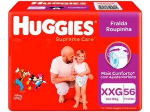 Fralda Huggies Supreme Care Roupinha Calça - Tam. XXG Mais de 14kg 56 Unidades | R$72