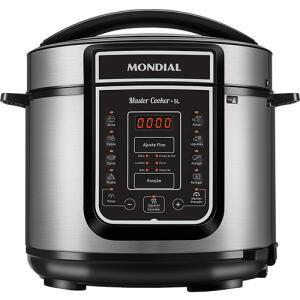 Panela de Pressão Elétrica Digital Mondial Master Cooker 5L Preta - 900W | R$308