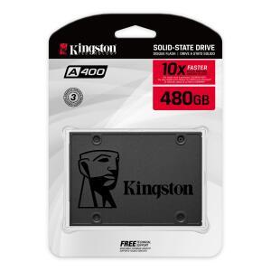 SSD Kingston A400 480GB - 500mb/s para Leitura e 450mb/s para Gravação | R$367
