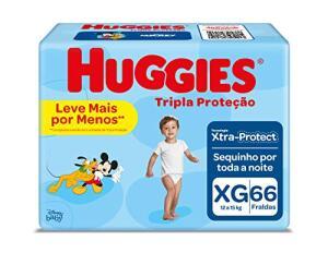 Fralda Huggies Tripla Proteção Xg - 66 Fraldas | R$57