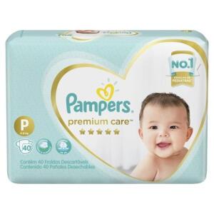2 Pacotes Fralda Pampers Premium Care P 40 | R$34