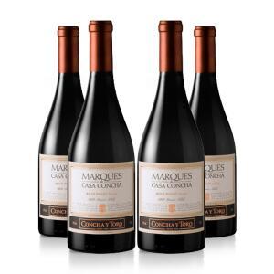 Kit 4 Vinhos Tinto Pinot Noir Marques de Casa Concha 750 ml - Concha Y Toro   R$496