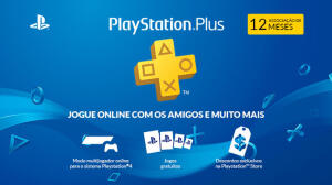 Assinatura 12 meses PlayStation Plus   R$140