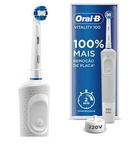 2 unidades | Escova dental elétrica Oral B Vitality D12 110V OU 220V | R$84 cada