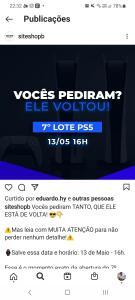 PRÉ VENDA PS5 MÍDIA DIGITAL