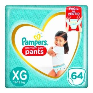 Fralda Pampers Pants Premium Care XG - 2 pacotes (128 unidades) | R$128