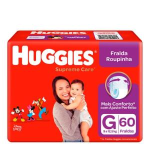Fralda Huggies Roupinha Supreme Care G 60 Unidades | 4 unid | R$38 cada