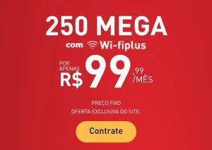 [125+125] Banda larga 250 MEGA por R$100