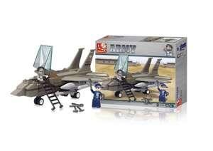 Blocos de Montar Multikids Air Force Jato de Combate - 142 Peças | R$52