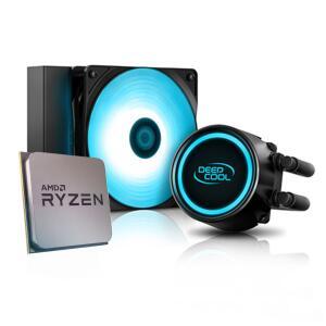 Processador AMD Ryzen 5 5600X 4.6GHz + Water Cooler DeepCool Gammaxx L120T Blue | R$ 2114