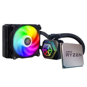 Processador AMD Ryzen 5 5600X 4.6GHz + Water Cooler SilverStone PF120-ARGB | R$2219