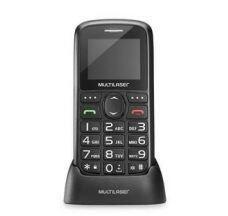 Celular Vita 2G Dual Chip USB Bluetooth Tela 1,8 Pol. + Base Carregadora Preto Multilaser | R$99