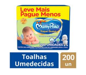 Toalhas Umedecidas Mamypoko 600 unidades | R$48