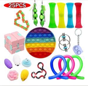 Kit de brinquedos Anti-Stress 25 peças | R$98