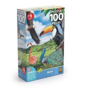 Quebra-Cabeça Grow Aves - 100 peças | R$15