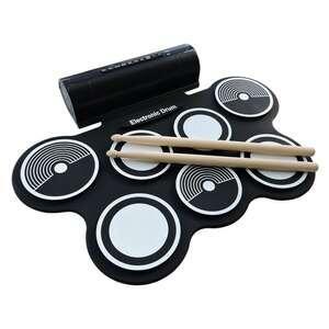 [Com AME R$356] Bateria Eletrônica Roll Up Konix-MD759 - Kit completo c/fonte + Baquetas