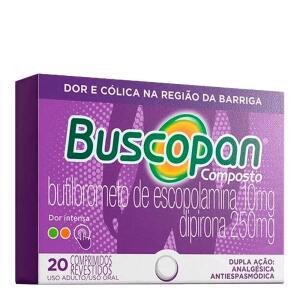 [leve3 pague2]Buscopan Composto 20 Comprimidos para dor e cólica | R$12
