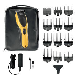 Máquina de Cortar Cabelo Wahl Hair Cut Beard DIY com 10 Pentes de Corte Bivolt | R$131