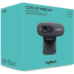 [Internacional] Webcam Logitech C270 HD - c/ Microfone - Preto | R$163