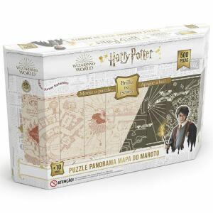 Quebra Cabeça Harry Potter Panorama - 500 Peças - Brilha no escuro | R$60
