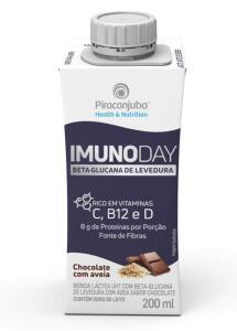 (Prime + Recorrência) Bebida Láctea Piracanjuba Imunoday Sabor Chocolate com Aveia 200ml | Mín.10 | R$1,11