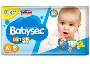 [APP] 240 Fraldas Babysec Ultrasec Galinha Pintadinha - Tam. M | R$115