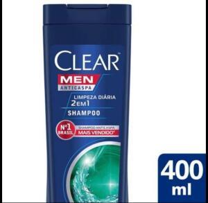 Pague 2 Leve 3 - Viva Saúde | Shampoo Anticaspa Clear Men Limpeza Diária 2 em 1 400ml | R$35