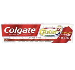 Creme dental Colgate total 12 clean mint 50gr   R$1,99