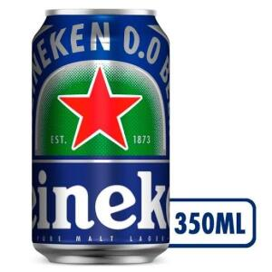 Cerveja Heineken 0.0 Pilsen Lager sem Álcool - 12 Unidades 350ml | R$34